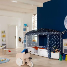 4-in-1 Bed Combination for Kids Bedrooms for children Lifetime Kidsrooms Blue Stars Canopy
