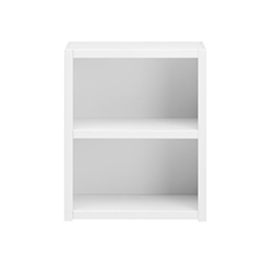 Bookcase with 1 Shelf, Solid Wood - White by Lifetime Kidsrooms