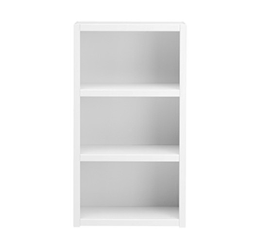 Bookcase with 2 Shelves, Solid Wood - White by Lifetime Kidsrooms