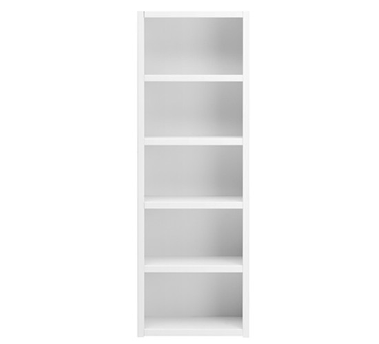 Bookcase with 4 Shelves, Solid Wood - White by Lifetime Kidsrooms