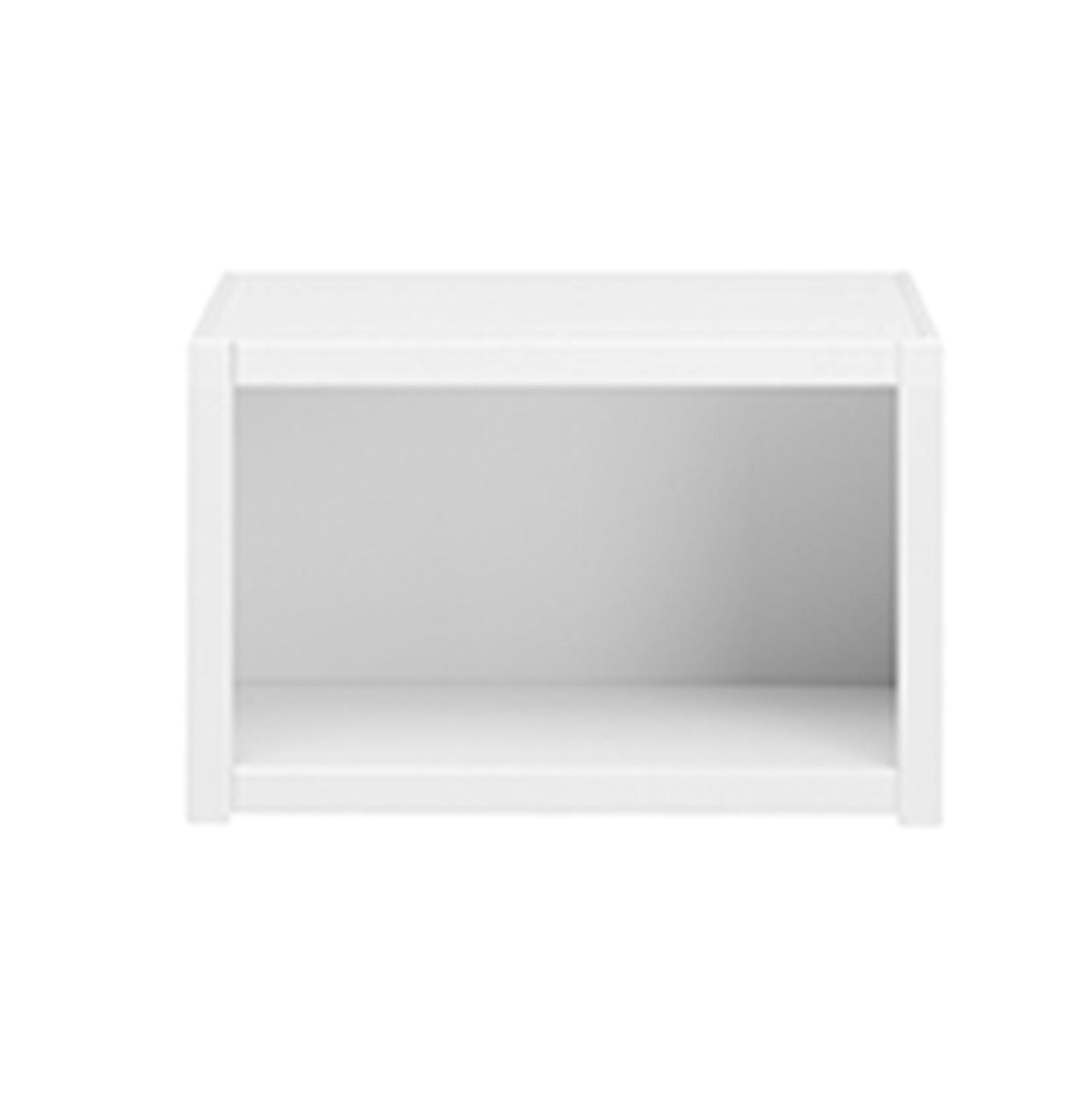 Bookcase without Shelf, Solid Wood - White by Lifetime Kidsrooms