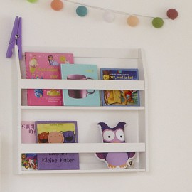 Bookrack, Solid Wood - White by Lifetime Kidsrooms Book Storage for Children Bookcase