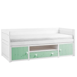Cabin Bed with Cupboards, Solid Wood - Mint by Lifetime Kidsrooms for Children Storage