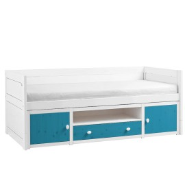Cabin Bed with Cupboards, Solid Wood - Petrol by Lifetime Kidsrooms for Children Storage