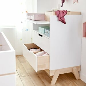 Changing Table/Desk Combo - Birch/White by Lifetime Kidsrooms