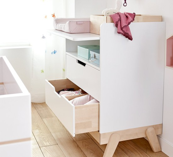 Changing Table Desk Combo Birch White For Kids In S A
