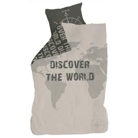 Discover The World Duvet Set (Single) by Lifetime Kidsrooms 8041-57 for Children Boys Bedding