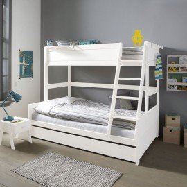 Family Double Bunk Bed Solid Wood White By Lifetime Kidsrooms Triple Sleeper