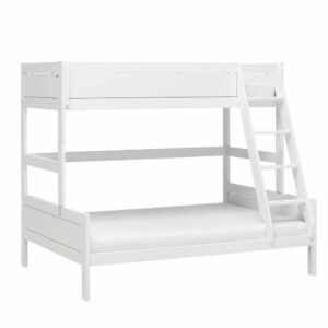 Family Double Bunk Bed, Solid Wood - White by Lifetime Kidsrooms