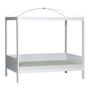 Four-Poster Bed with Butterfly Love Canopy - White by Lifetime Kidsrooms