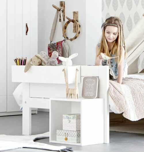 Hanging Box for Wall or Bed, Solid Wood - White by Lifetime Kidsrooms
