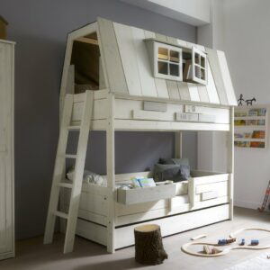 Adventure Hangout Bunk Bed, Solid Wood - White  by Lifetime Kidsrooms