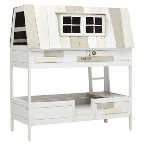 My Adventure Hangout on a Bed, Solid Wood - White by Lifetime Kidsrooms