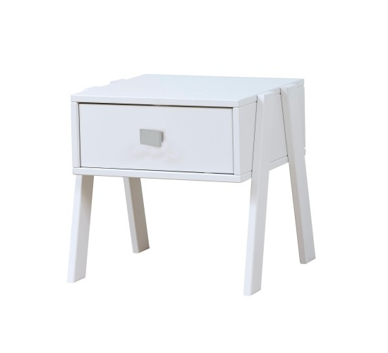 Nightstand with Drawer, Solid Wood - White by Lifetime Kidsrooms