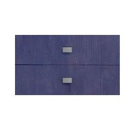 Set of 2 Drawers for Bookcase, Solid Wood Blueberry by Lifetime Kidsrooms Modular Storage System Playroom