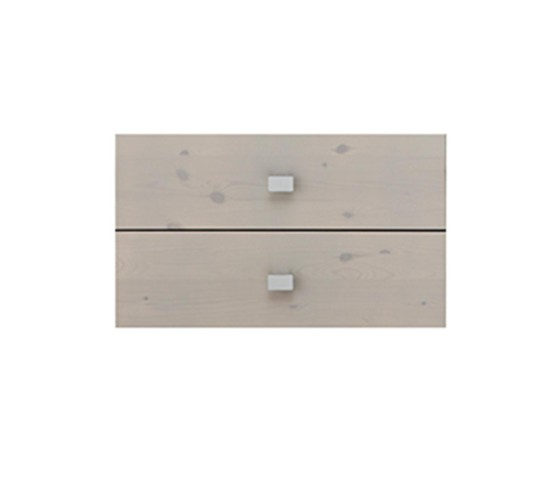 Set of 2 Drawers for Bookcase, Solid Wood - Grey by Lifetime Kidsrooms