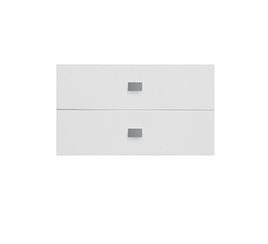 Set of 2 Drawers for Bookcase, MDF - White by Lifetime Kidsrooms
