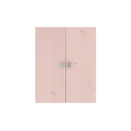 Set of 2 Large Doors for Bookcase, Solid Wood - Pink by Lifetime Kidsrooms Modular Storage Systems for Children Playroom and Bedroom