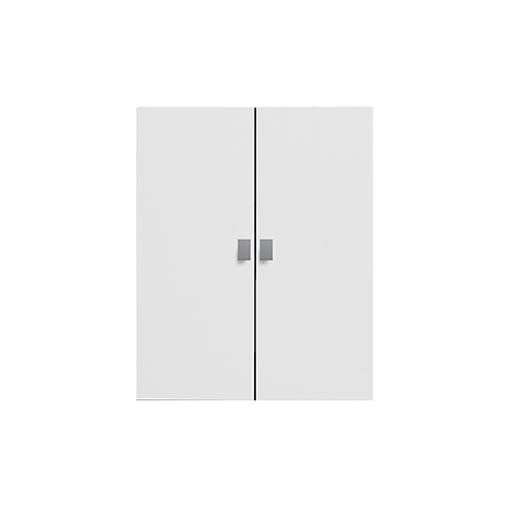 Set of 2 Large Doors for Bookcase, MDF - White by Lifetime Kidsrooms