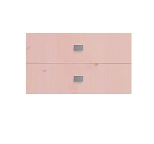 Set of 2 Drawers for Bookcase, Solid Wood - Pink by Lifetime Kidsrooms