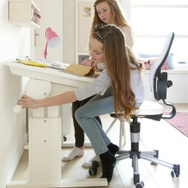 Small Desk - Height & Slant Adjustable White by Lifetime Kidsrooms 30245-10 for Children Study Homework
