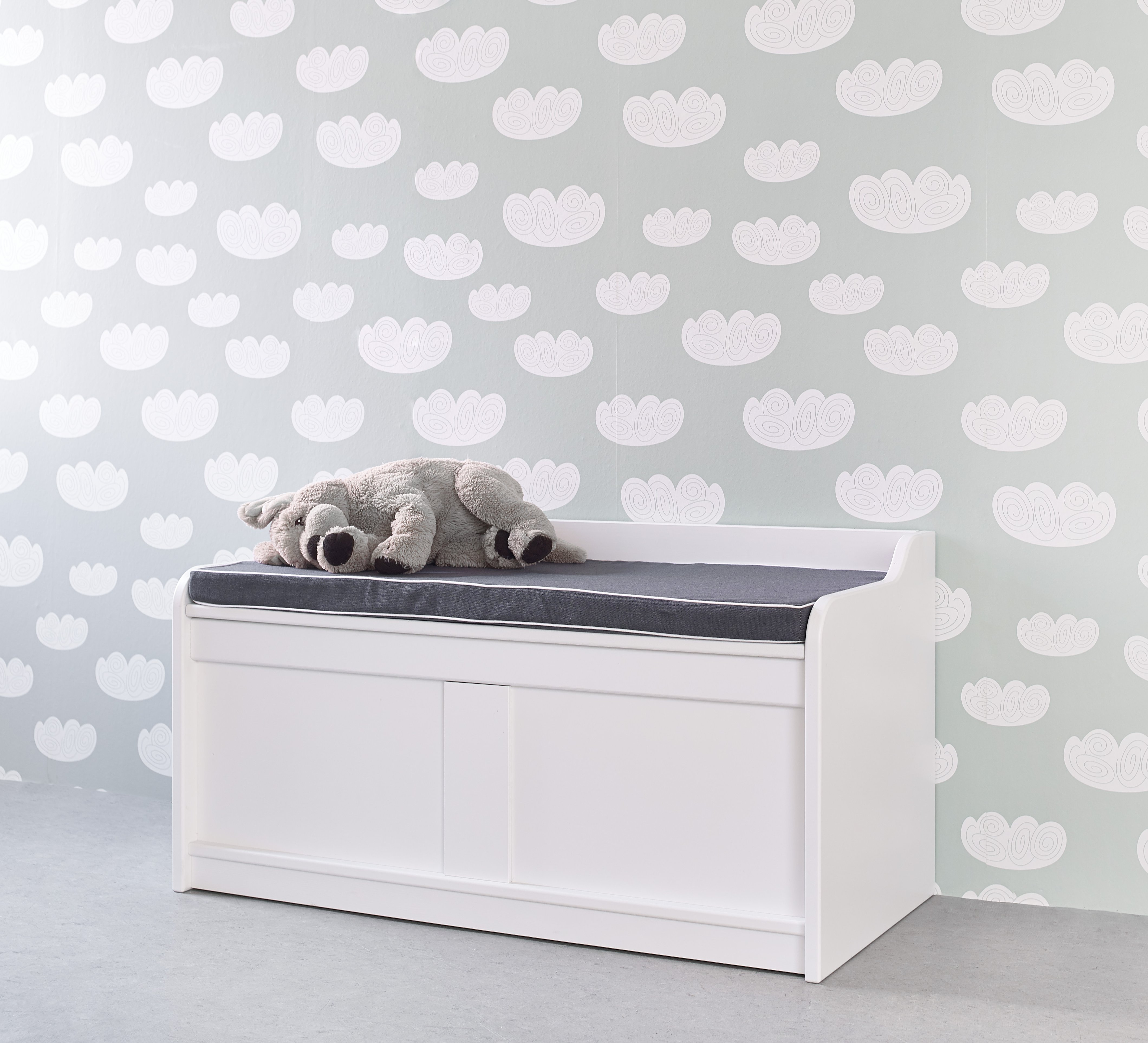Products STORAGE All Storage Storage Bench With Grey Cush