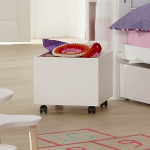 Storage Cube with Castors, Solid Wood - White by Lifetime Kidsrooms