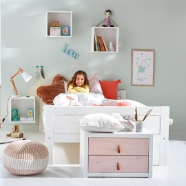 Superior Classic Bed Double 140cm, Solid Wood - White by Lifetime Kidsrooms teenagers Children