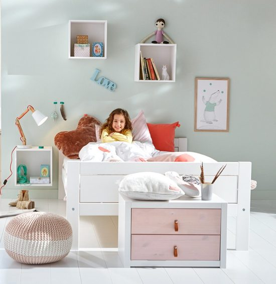 Superior Classic Bed (Double), Solid Wood - White by Lifetime Kidsrooms