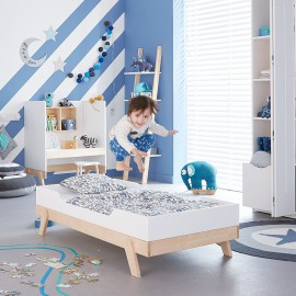 Toddler Bed - Birch White by Lifetime Kidsrooms Nursery Bedroom Solid Wood