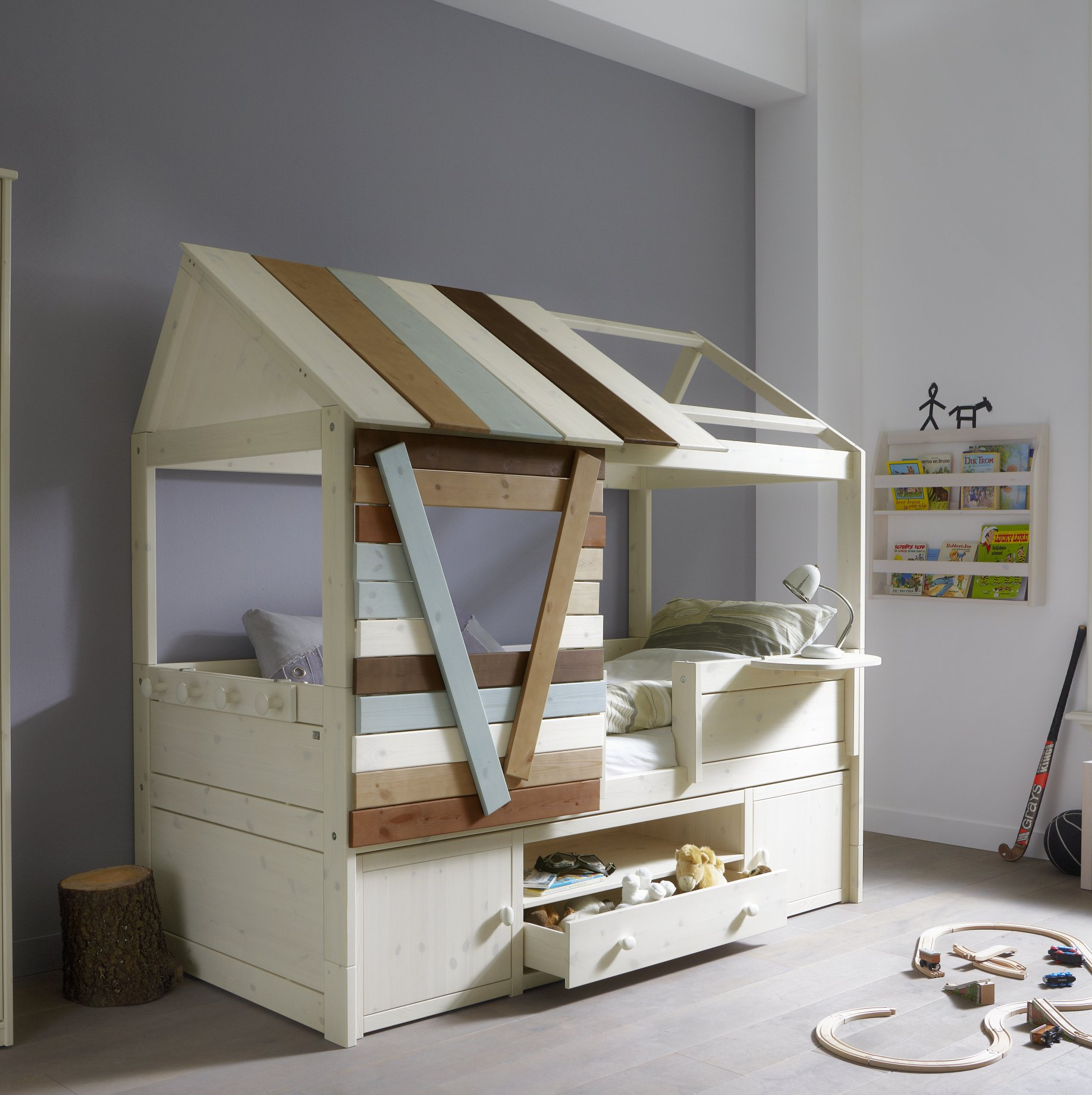 Tree house cabin bed solid wood for children in s a - Solid wood youth bedroom furniture ...