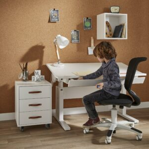 Writing Desk with Drawer (140cm) - Height Adjustable by Lifetime Kidsrooms