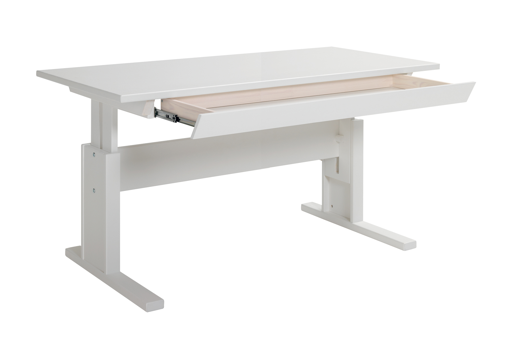 Writing Desk With Drawer 140cm Height Adjustable For
