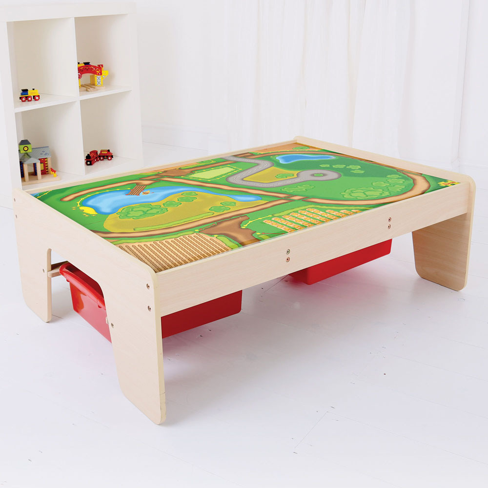 Train Set Table With Drawers Play Tables Nest Designs