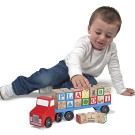 Alphabet Blocks Wooden Truck Melissa & Doug for Kids Pretend Play