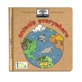 Animals Everywhere Book for Kids Reading Green Start cover