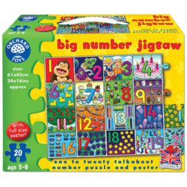 Big Number Jigsaw Puzzle for Kids Children Games Orchard Toys