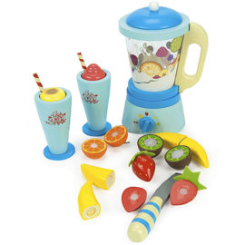 Blender Fruit and Smoothie Set for Kids Pretend Play Playfood Wooden Children Le Toy Van