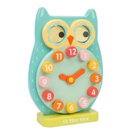 Blink-Owl-Clock Early Years Toddler Toys for Kids Time Teacher Wooden
