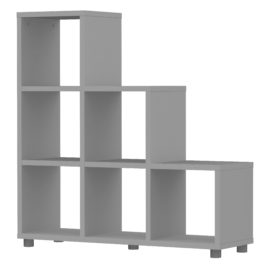 Bloc 6 Cube Stepped Storage Unit Colum Vertical Horizontal Flexible Modular Storage for Children Grey