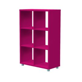 Bloc 6 Cube Storage Unit for Kids Fuchsia Modular Flexible Playroom Bedroom