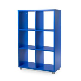 Bloc 6 Cube Storage Unit for Kids Royal Blue Modular Flexible Playroom Bedroom