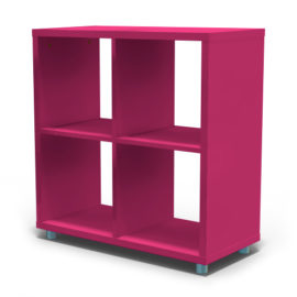 Bloc Storage Unit 4 Cube for Kids Fuchsia Shelving Modular