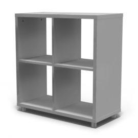 Bloc Storage Unit 4 Cube for Kids Grey Shelving Modular