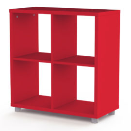 Bloc Storage Unit 4 Cube for Kids Red Shelving Modular