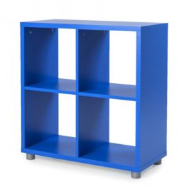 Bloc Storage Unit 4 Cube for Kids Royal Blue Shelving Modular
