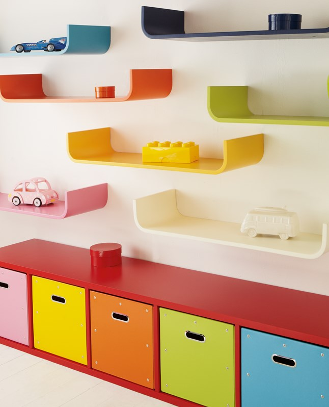 Bloc 6 cube stepped red for children kids in south africa for Shelving for kids room