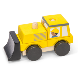 Bulldozer Stacker for Toddlers Kids Early Leaning Le Toy Van