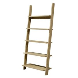 Carlton Bookcase Leaning Shelving Unit for Kids Oak Storage