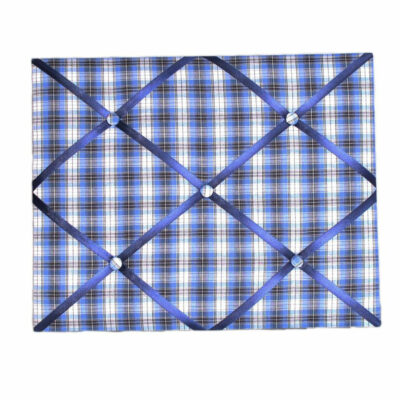 Fabric Message Board - Blue Check